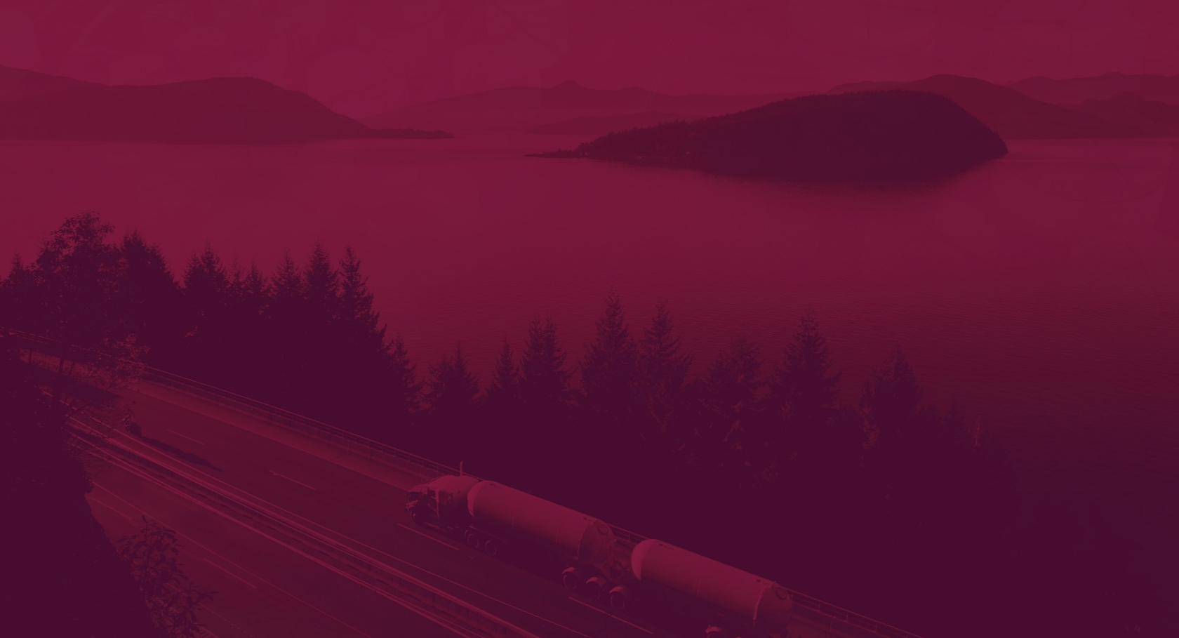 Oregon highway with a semi truck