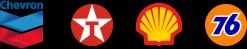 gas station partner logos